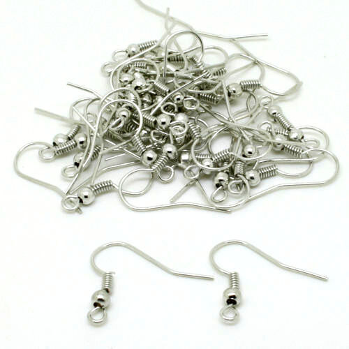 Wholesale Jewelry Findings Silver Earring Hooks Ear Wires Pick Qty /& Color E005