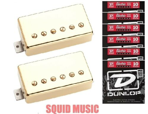 6 FREE SETS OF STRINGS Seymour Duncan Slash APH-2s Alnico II Pro Gold Covers