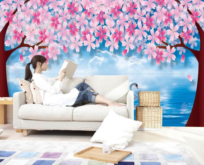 3D Romantische Schwan 36767 Fototapeten Wandbild Fototapete BildTapete FamilieDE