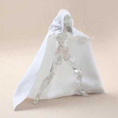1:12 Scale White Cape Cloak With Hat For Bandai SHF figma Body Doll no figure