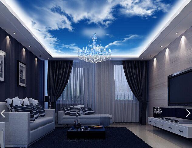 3D White Clouds 3 Ceiling WallPaper Murals Wall Print Decal Deco AJ WALLPAPER