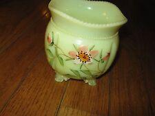 Antique Northwood Gorgeous Custard Sugar Bowl Flowers graphic