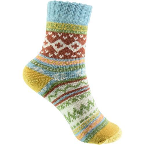 33-40 1 Paar Baumwolle atmungsaktiv weich cosey dicke Socken Norweger hellblau