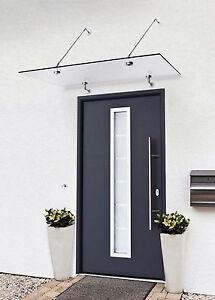 glasvordach vordach t rvordach pultdach edelstahl 150x90 klarglas vsg ebay. Black Bedroom Furniture Sets. Home Design Ideas