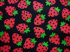 CLEARANCE YARD STRAWBERRY STRAWBERRIES FRUIT  FABRIC FOOD KITCHEN