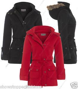 7dd8284ae9 NEW Womens Faux Fur HOOD PARKA Ladies JACKET COAT PLUS Size 20 22 24 ...