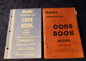 Details about Curtis Key Code Book Honda 5001 to 8442 for HD88-89 HD12X  HD65 66 67 68 69 70 71