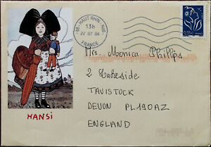 Hansi-Design-Envelope-with-Lamouche-Itvf-Jumelet-55-Euro-Stamp-from-France-2007