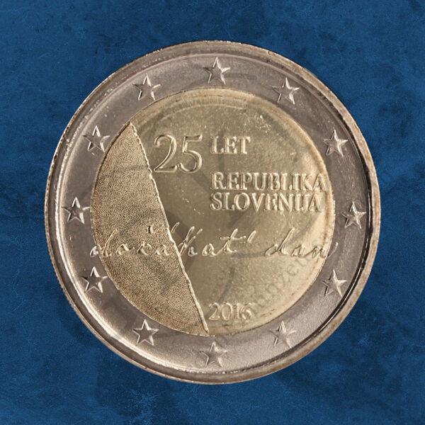 AgréAble Slovénie - 25 Années Indépendance Sloweniens - 2 Unc.