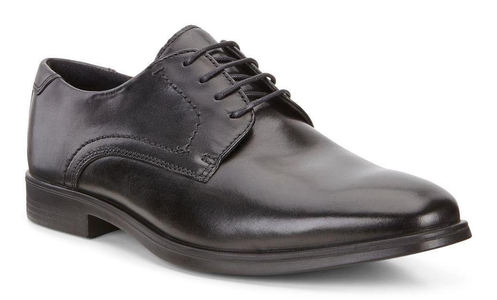 Ecco Homme Melbourne Cuir noir Uni Orteil Oxford chaussures Habillées