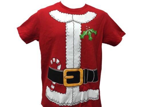 Santa Claus Holiday Costume Candy Cane Misseltoe Christmas Xmas Men/'s T shirt