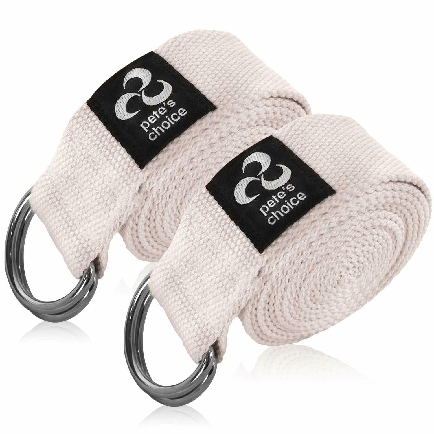 Pete's Choice 2 Pack Yoga Exercise Adjustable Straps 8Ft