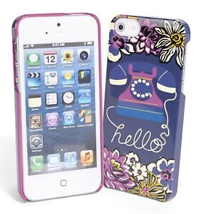 NEW-Vera-Bradley-Whimsy-Snap-on-Case-iPhone-5-African-Violet-NIB