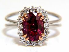 █$12,000  AGL CERTIFIED 2.99CT NATURAL RUBY DIAMOND RING 18KT