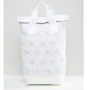 ffa8f8f76760 Image is loading White-Adidas-Issey-Miyake-Roll-Top-Backpack-3D-