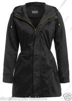 Size 8 10 12 14 16 Women's CANVAS COTTON MAC Ladies TRENCH JACKET COAT NEW Khaki