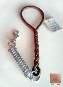 Manigliotto-treccia-cuoio-x-cani-antistrappo-guinzaglio-Leather-dog-leash-Italy