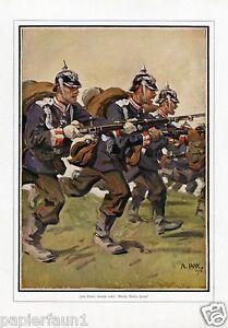 Zum-Sturm-Gewehr-rechts-Kunstdruck-1914-Jank-Angriff-Pickelhaube-Uniform-1-WK-WW
