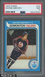 """1979 Topps Hockey #18 Wayne Gretzky RC Rookie HOF PSA 7 NM """" LOOKS NICER """""""