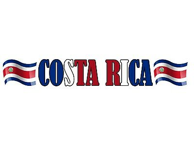 Costa Rica Flag Vinyl Decal Bumper Sticker 2-Pack Car Truck Van Laptop Window