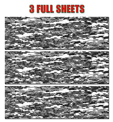 "3 CAMOUFLAGE VINYL DECAL 48/"" x 15/"" MATTE TRUCK CAMO TREE PRINT PICKUP SNOW."