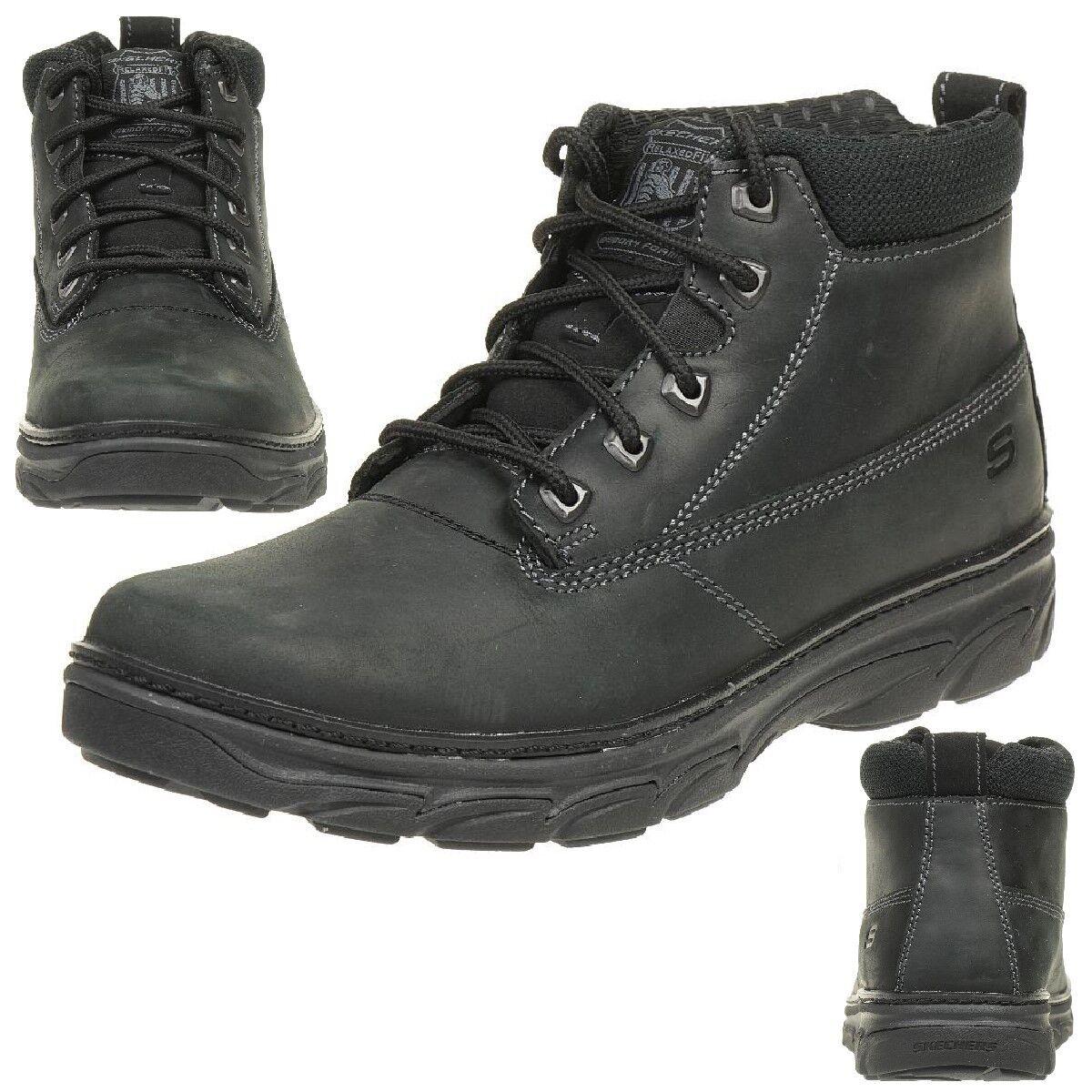 Skechers resment alento señores outdoor botas zapatos cuero bbk