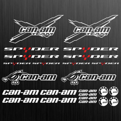 can-am canam team BRP spyder sticker decal quad ATV 24 Pieces