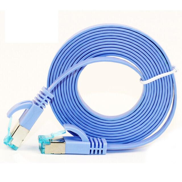 Haute qualité 5m Cat6 Câble Ethernet RJ45 Ordinateur plat réseau LAN Cordon