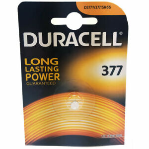 1-x-DURACELL-377-AG4-SR66-SR626SW-Batteria-Orologio