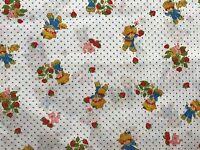 1980 Vintage Cotton Quilt Fabric Huckleberry Pie Pupcake & Custard Bthy