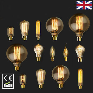 B22-Bayonet-40W-60W-Vintage-Retro-Antique-Filament-Industrial-Edison-Light-Bulb