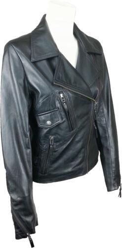 les en motardnoirga Veste licorne de pour femmes la cuir mode nvNm0w8O