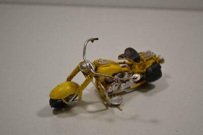Mutig Blech-mini-motorrad 18 Gelb 11 X 6 X 7 Cm