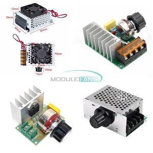 200V 4000W SCR Dimmer Speed Controller Temperature Voltage Regulator //Case//Fan