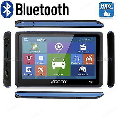 "XGODY 7"" 8GB 718 Truck Car GPS Navigation Lorry Coach Sat Nav Bluetooth AV-IN"