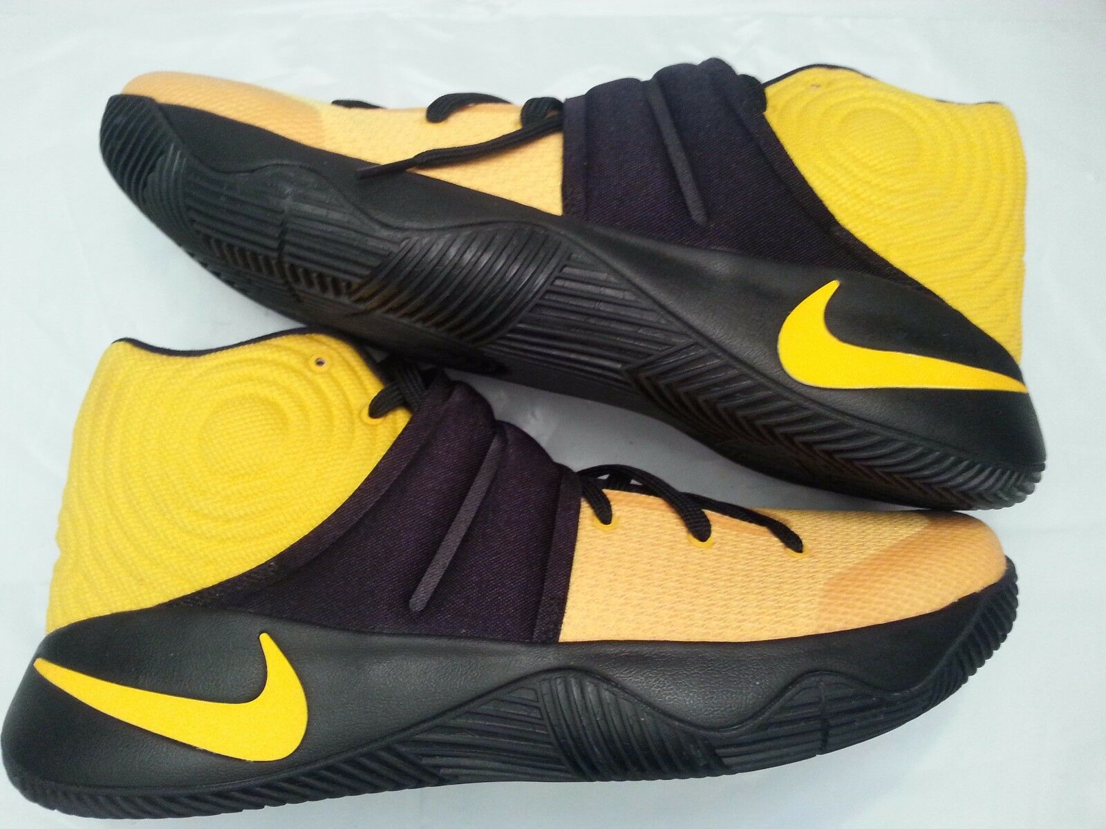 Nike Kyrie 2 ID Black Yellow Size 14. Lebron bhm all star championship mvp