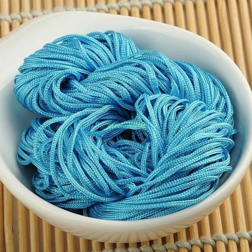 1mm//1.5mm Nylon Cordón anudado chino Pulsera macramé Abalorios Hilo Satinado 514