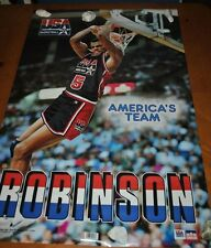 DAVID ROBINSON AMERICA'S TEAM USA BASKETBALL 1992 RARE POSTER NO TEARS/PIN HOLES