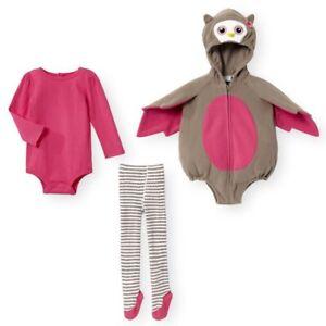 süße Eule Baby Mädchen Fasching Kostüm Body Strumpfhose Hoodie Body 56 62 68