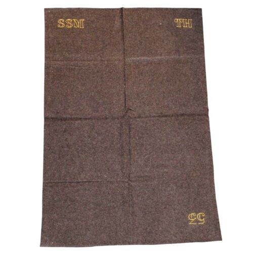 180*120 cm Couverture marron en laine Armée française
