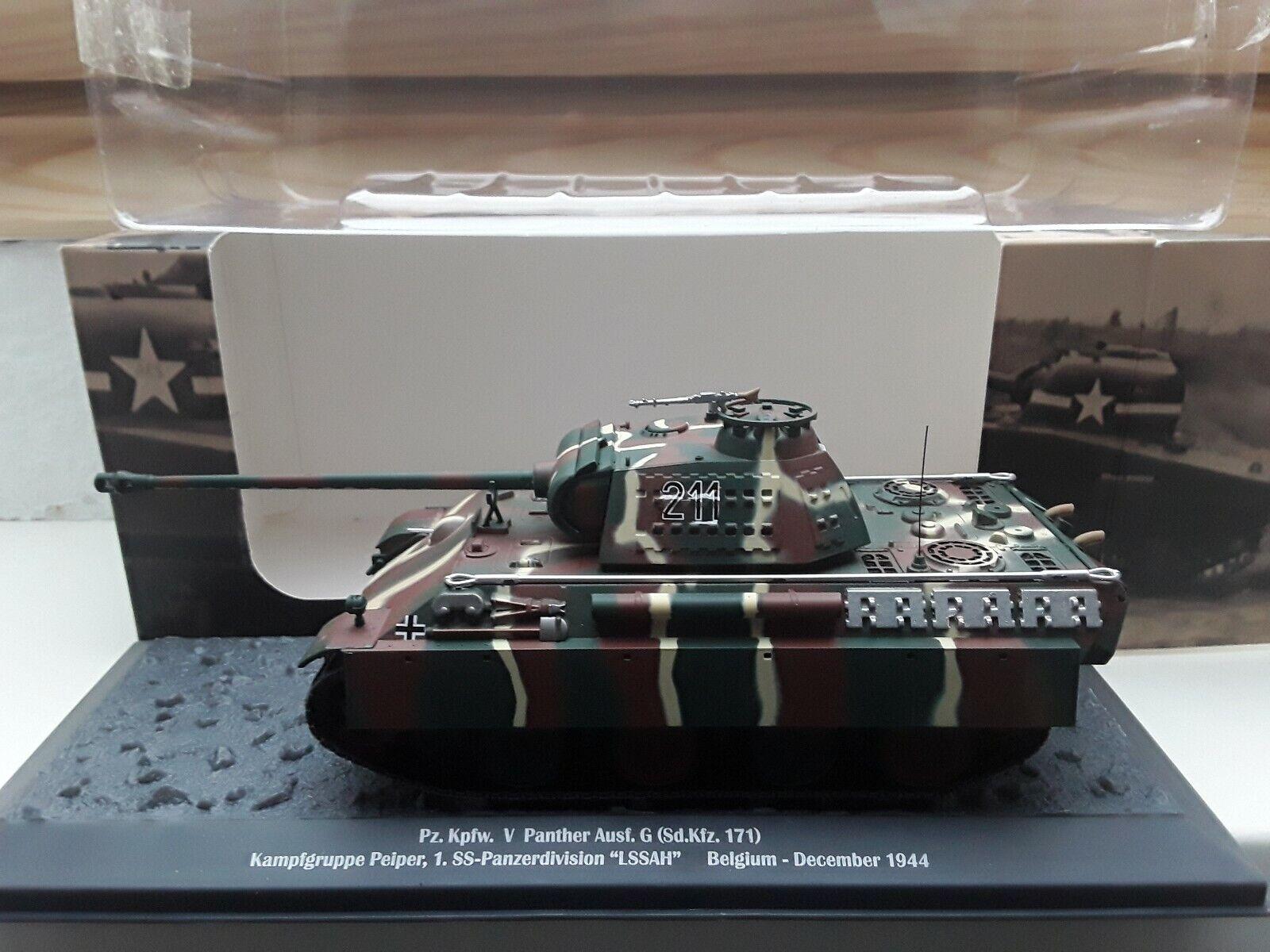 Altaya 1 43 Kampfgruppe Peiper Ardennen 1944 Panther G