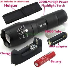 Rechargeable T6 LED Zoomable Charger+18650/AAA Flashlight Torch Light Lamp