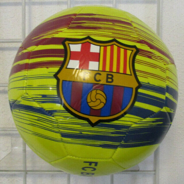 F C Barcelona Home Official Licensed Soccer Ball Messi 10 Neon Green Size 5 For Sale Online Ebay