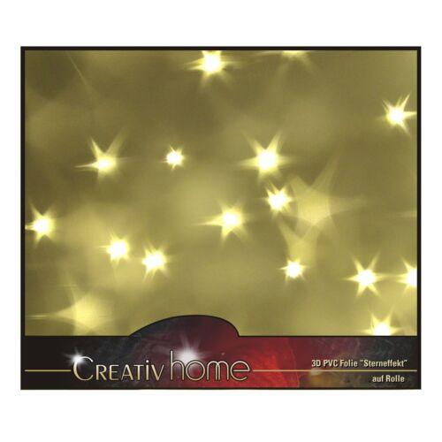Folie Hologramm Effekt Sterne 604546-00 3D STERN Folie 33 x 100 cm Lichteffekt