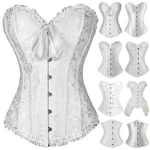 bf75539cd5 Image is loading Fashion-Sweetheart-Overbust-Satin-Lace-up-Wedding-Corset-