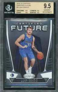 Luka Doncic Card Rookie 2018-19 Certified Future #3 BGS 9.5 (9.5 9.5 9.5 9.5)