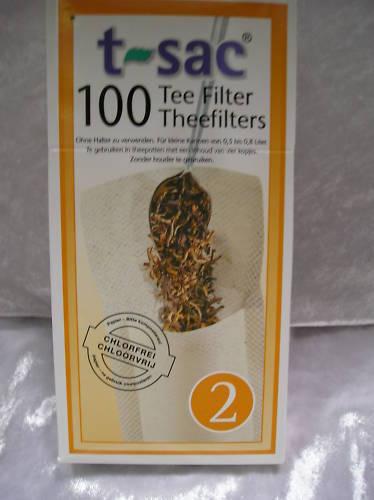 ( P.) 30 pacchetti teefilter T-SAC Infuser tazze filtro mis. 2 filtro di carta