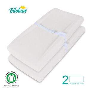 Baby-Waterproof-Changing-Pad-Cover-Infant-Sheet-Organic-Cotton-2-Pack-32-034-x-16-034