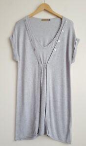 16 Ladies Mint Top Grey Velvet Size Tunic wBCaqOx4
