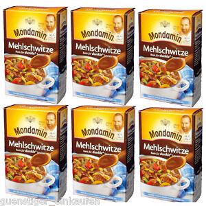 ( 11,27€/ Kg) 6x 250g Mondamin Roux Base Pour Sombre Sauces Goulasch